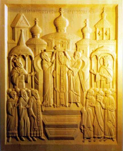 Резная икона Воздвижение Креста ...: www.reznaya-icona.narod.ru/reznye-icony/vozdvizhenie-kresta.html